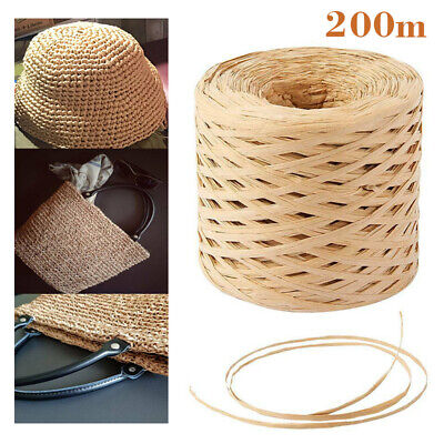 £3.79 • Buy 200 Metres DIY Roll Paper For Cord Crafts Twine Rope String Raffia Scrapbooks