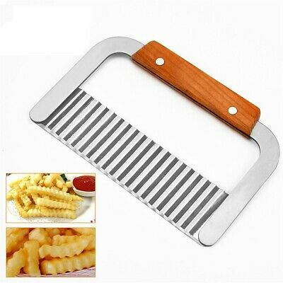 £4.99 • Buy Potato Chip Vegetable Crinkle Wavy Cutter Blade Tool Fry Fries Hand Chipper Tool