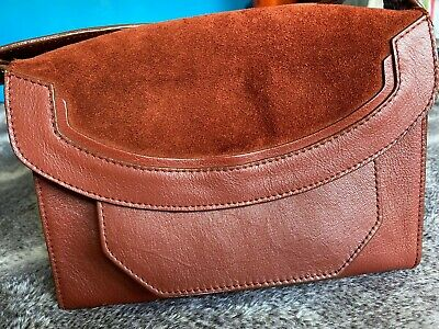 £6.75 • Buy M&S Autograph Rust Coloured Satchel/shoulder Bag,USED/VERY GOOD CONDITION