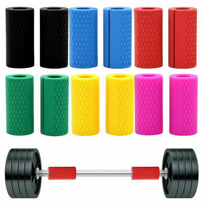 AU26.99 • Buy 1Pair Thick Fat Barbell Silicone Grips Gym Arm Wrap Bar Dumbbell Grip Weightlift