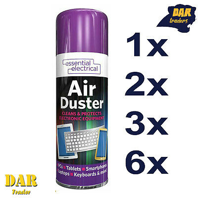 £5.45 • Buy New Compressed Air Duster Spray Can Cleans Protects Laptops Keyboards 200ml