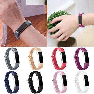 AU4.41 • Buy For Fitbit Alta HR Strap Replacement Silicone Buckle Sport Watch Band Belt Loop