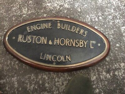 £75 • Buy VINTAGE RUSTON HORNSBY LTD Engine Builders LINCOLN BRASS NAME PLATE PLAQUE. Huge