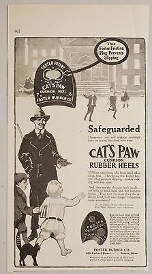 $11.68 • Buy 1917 Print Ad Cat's Paw Cushion Rubber Heels For Shoes Foster Co. Boston,MA