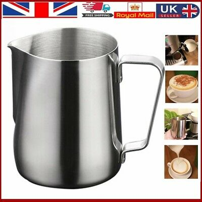 £6.19 • Buy MilkCup Frothing Jug Frother Metal Pitcher Stainles Steel Coffee Latte Container