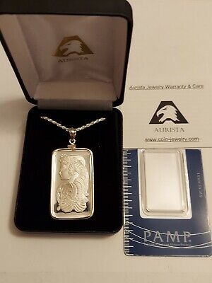 £143.12 • Buy 20 Gram SILVER PAMP - SUISSE FORTUNA NECKLACE WITH ASSAY