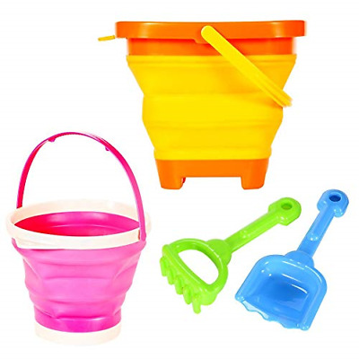 £20.26 • Buy ThinkMax Bucket And Spade Beach Set, 2 Pcs Collapsible Buckets With Shovel And