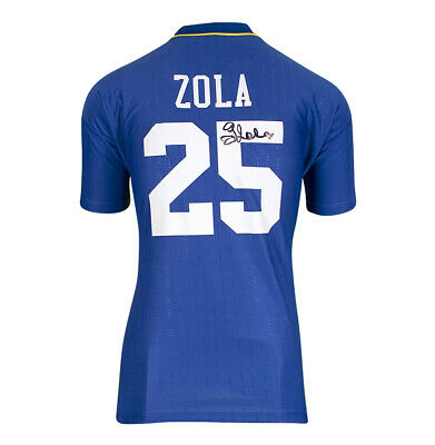 £205.99 • Buy Gianfranco Zola Signed Chelsea Shirt - 1997 FA Cup Final, Number 25