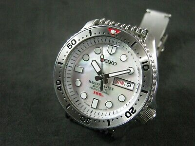 $ CDN435.77 • Buy SEIKO SKX007 Mod MM 300 White Mother Pearl Dial NH36 Water Proof Tested  A1 Cond
