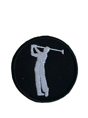£3.99 • Buy Golf Player Silhouette Embroidered Sew / Iron On Patch (A)