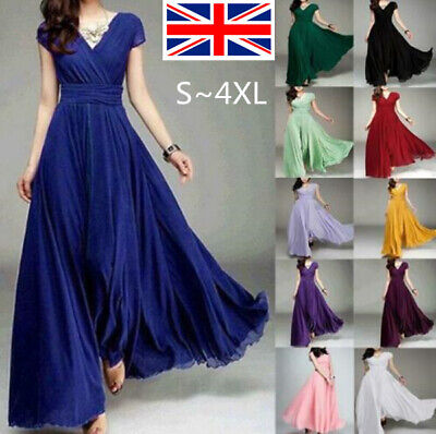 £14.69 • Buy Women Evening Formal Party Wedding Bridesmaid Maxi Dress Prom Cocktail Long Gown