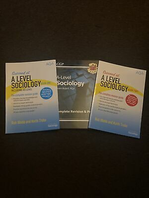 £25.99 • Buy A Level Sociology Aqa Book Year One And Two & Practice Bundle Complete Revision