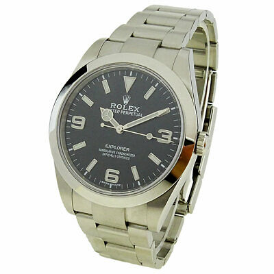 $ CDN15086.57 • Buy Rolex Explorer Oyster Perpetual Stainless Steel Automatic Wristwatch 214270