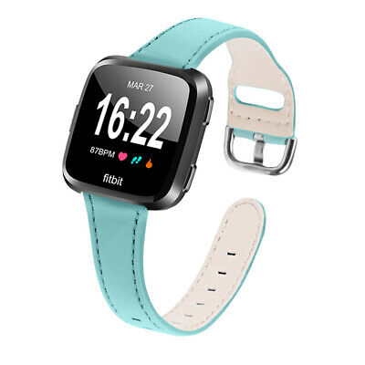 $ CDN17.04 • Buy Leather Watch Band Wristband Replacement Strap For Fitbit Versa 2 / Versa Lite