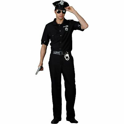 £27.99 • Buy Mens Police Officer Halloween Costume New York Cop Fancy Dress Up Party Stag New