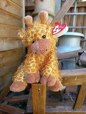 £3.85 • Buy Ty Beanie Baby Punkies Treetop The Giraffe Soft Toy (2003) With Tags