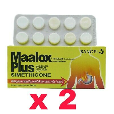 $49.90 • Buy Maalox Plus Simethicone For Relief Of Gastric & Stomach Wind (2packs) FAST SHIP
