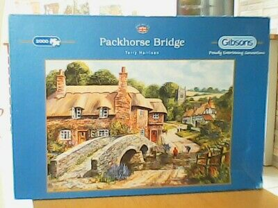 £10 • Buy Packhorse Bridge By Terry Harrison Jigsaw Puzzle (2000 Piece) Gibsons