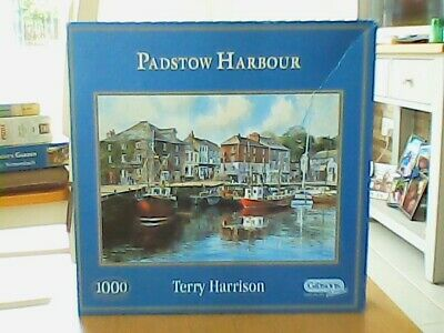 £4 • Buy Padstow Harbour By Terry Harrison Jigsaw Puzzle (1000 Piece) Gibsons