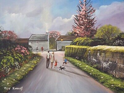 £67 • Buy Pete Rumney Original Canvas Art Painting Perfect Family Dreams Hand Painted NR
