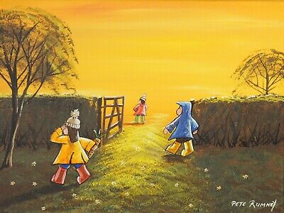 £97 • Buy Pete Rumney Original Canvas Art Painting Wheres That Rascally Rabbit Signed New
