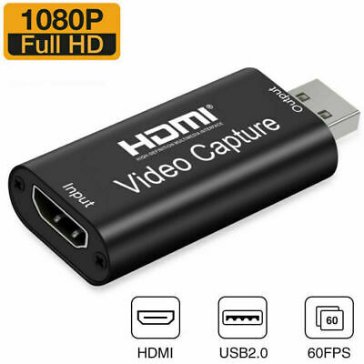 £12.99 • Buy HDMI To USB2.0 Video Capture Card 1080P Record Broadcast Audio/Video Live Stream