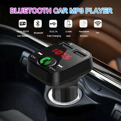 £5.99 • Buy Wireless Bluetooth Car FM Transmitter MP3 Player 2 USB Charger Handsfree Kit NEW