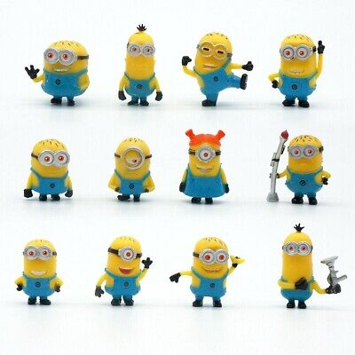 £7.05 • Buy 12 Pcs/Set Mini Minions 1.5  Pvc Figures Doll Toy Gift Decorations Cake Toppers.