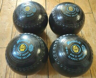 £99.95 • Buy HENSELITE SIZE 0 HEAVY LAWN BOWLS - Classic Deluxe Bowling Matching 0H Set
