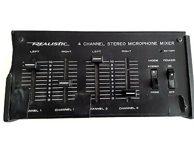 £7.07 • Buy Radio Shack Realistic 32-1105 4-Channel Stereo Microphone Mixer Used