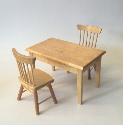 £3 • Buy Dolls House Kitchen Table And Two Chairs