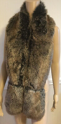 £4.99 • Buy New Look Ladies Faux Fur Black Brown Stole One Size Flawless