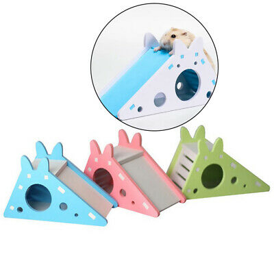 £3.12 • Buy Hamster Hideout Cute Exercise Toy Wooden Hamster House With Ladder SlZS-