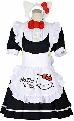 $103 • Buy 8mm Hello Kitty Collaborated With 8mm Hello Kitty Maid Dress Set Lady's M Size