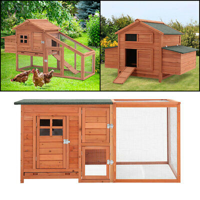 £299.95 • Buy Outdoor Large Chicken Coop Poultry Habitat Cage Hen Duck Rabbit House Hutch Home