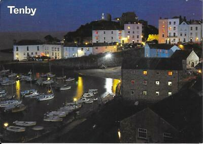 £1.20 • Buy Tenby - Castle Hill At Night -Posted Postcard