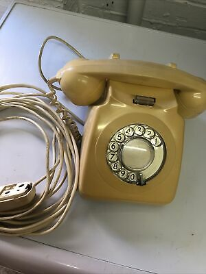 £20 • Buy PO Vintage Cream Corded Rotary Telephone 746 Original GPO Lead And Connection