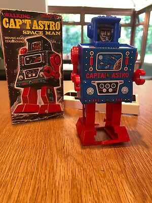 £140 • Buy MEGO Walking Cap't Astro Space Man Robot Wind-Up Vintage Toy With Original Box