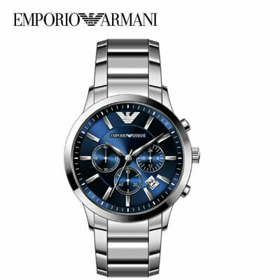 £43.99 • Buy Emporio Armani AR2448 MENS WATCH BLUE DIAL STAINLESS STEEL WITH 3 YEARS WARRANTY