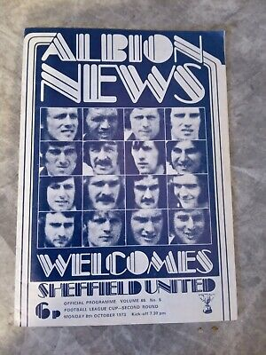 £2.50 • Buy West Bromwich Albion Football Programmes