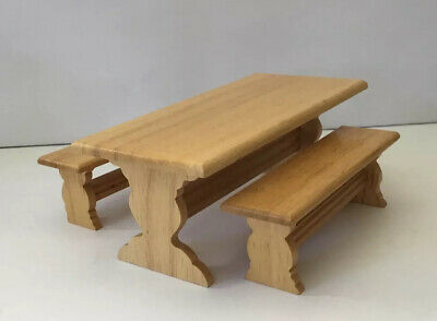 £3 • Buy Dolls House Kitchen Table With Bench