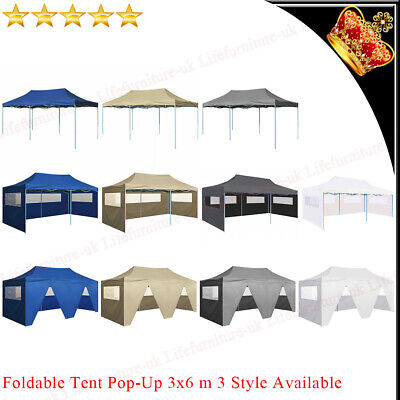 AU163.99 • Buy 3x6m Folding Pop-up Party Tent Steel Marquee Gazebo Garden Outdoor Canopy Awning