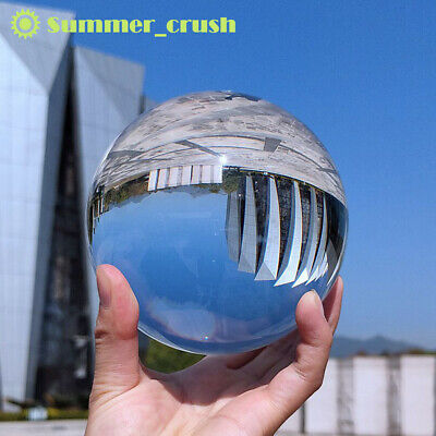 £4.89 • Buy 60mm Clear Crystal Ball Photography Glass Lens Sphere Ball Photo Decorate UK