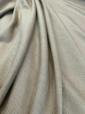 £4.99 • Buy Taupe Brown Plain Ponte Roma Jersey Knit Stretch Dress Craft Fabric 60