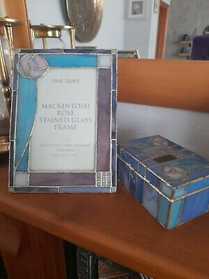 £16 • Buy Past Times Macintosh Stained Glass Photo Frame And Trinket Box