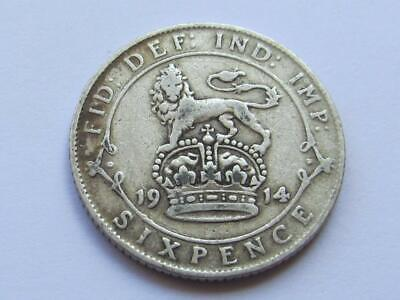 £2.20 • Buy George V 1914 Silver Sixpence - Good Filler/collectable Coin