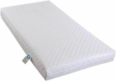 £29 • Buy COT BED Mattress Fully Breathable Poly Cotton Cover Foam Filling Mattress BABY