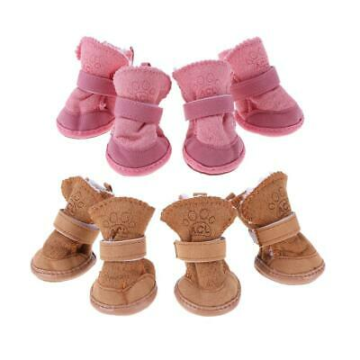 £3.48 • Buy Pet Puppy Thick Snow Boots Dog Plush Winter Warm Shoes Dog Accessories