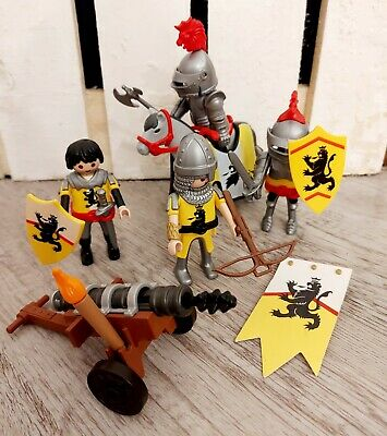 £15.99 • Buy Playmobil 4871 Lion Knights Troop Almost Complete 4 Figures Horse Cannon