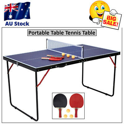 AU80.95 • Buy SALE Portable Table Tennis Table Set Play Ping Pong Rack Post Indoor Outdoor Net